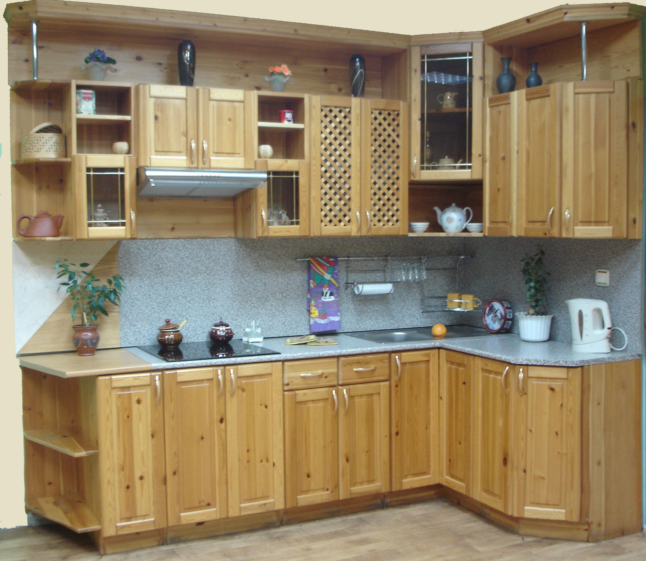 Как сделать кухню из ели 589